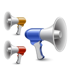 megaphones loudspeaker collection vector image vector image