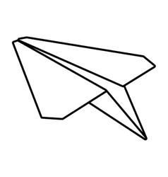 Paper plane symbolic miniature outline vector