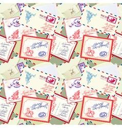 Post stamp xmas seamless 380 vector