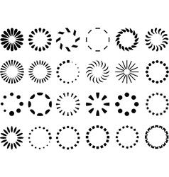 Preloaders vector image vector image