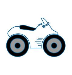 Quad motorcycle icon vector