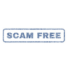 Scam free textile stamp vector
