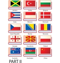Several dictionaries with flags vector image
