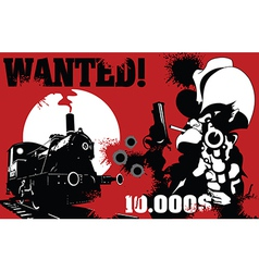 Sheriff wanted poster vector