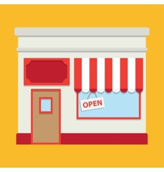 Shop building vector image vector image