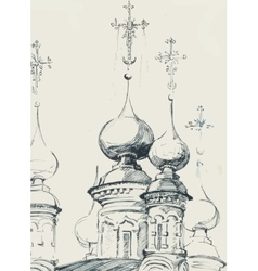 Sketch of an old church vector image