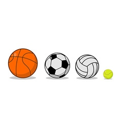 Sports ball set basketball and football tennis and vector