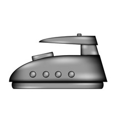 Steam iron sign icon vector