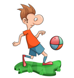 sweet man plays football vector image vector image