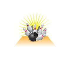 Ten pin bowling icon vector image