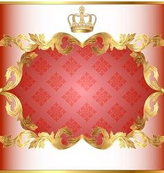 Vintage Rose Floral Frame vector image vector image