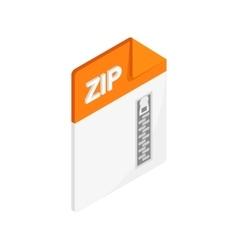 ZIP icon isometric 3d style vector image vector image