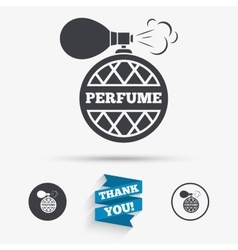 Perfume bottle sign icon glamour fragrance vector