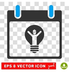 Electrician calendar day eps icon vector