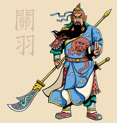 Chinese warrior 2 vector