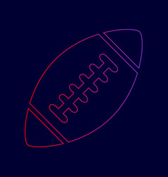 American simple football ball  line icon vector