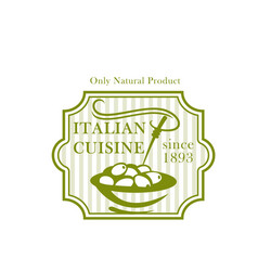 Olives plate icon for olive product package vector