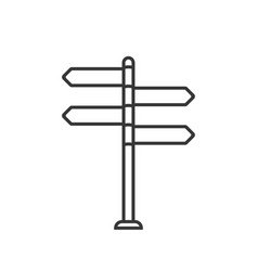 Sign post icon vector