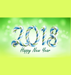 2018 happy new year background flyer or vector image