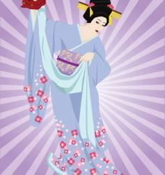 kabuki dancer vector image