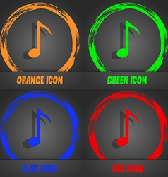 Music note icon sign fashionable modern style in vector