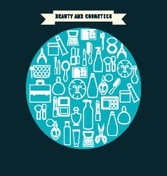 Beauty and cosmetics product vector