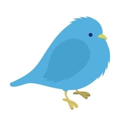 Freezing blue bird vector