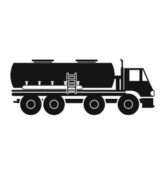 Truck with fuel tank icon vector image