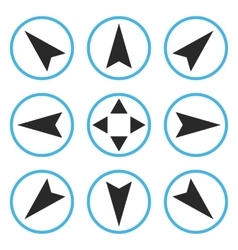 Navigation directions flat icon set vector