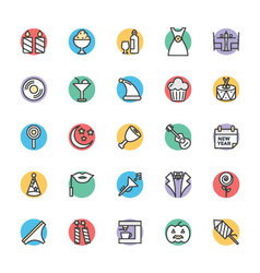 Celebration and party cool icons 4 vector