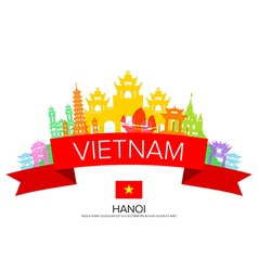 Vietnam travel hanoi travel vector