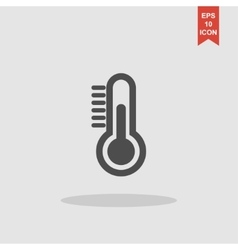 Thermometer icon flat design style vector