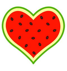 abstract watermelon heart vector image vector image