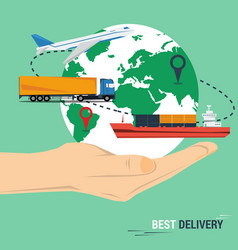 Best delivery concept vector