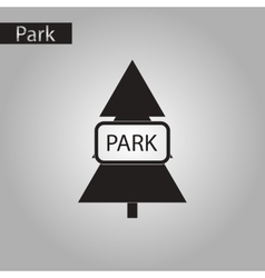 Black and white style icon fir park vector
