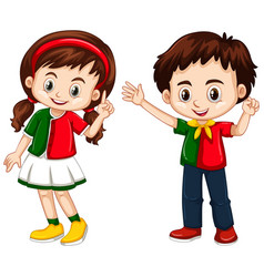 boy and girl from portugal vector image vector image