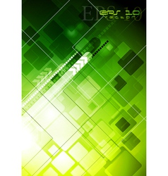 Bright green technology design vector