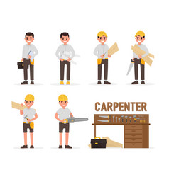 Carpenter joiner foreman engineer and vector