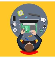 Computer service vector image