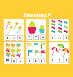 Counting educational children game math kids vector