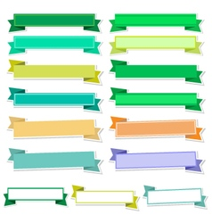Cute ribbons on white background vector image vector image