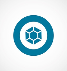 Diamond bold blue border circle icon vector