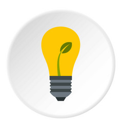Eco light bulb icon circle vector