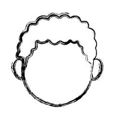 Female head cartoon woman face image vector
