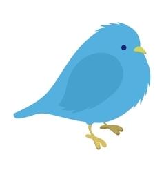 Freezing blue bird vector