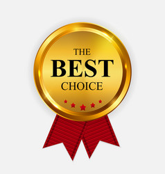 gold label the best choice template vector image