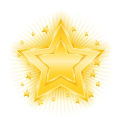 Golden Star vector image vector image