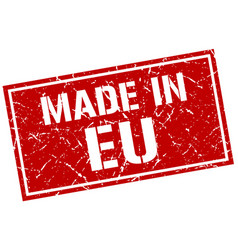 made in eu stamp vector image