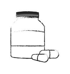 Medication pills icon image vector