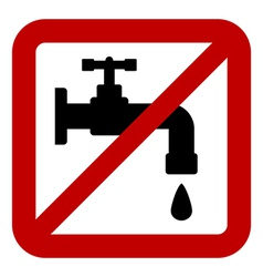 No water tap sign vector image